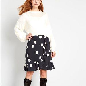 Modcloth It's a Wrap Ruffle A-Line Skirt